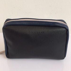 NWOT Cole Haan Amenity Bag black/blue
